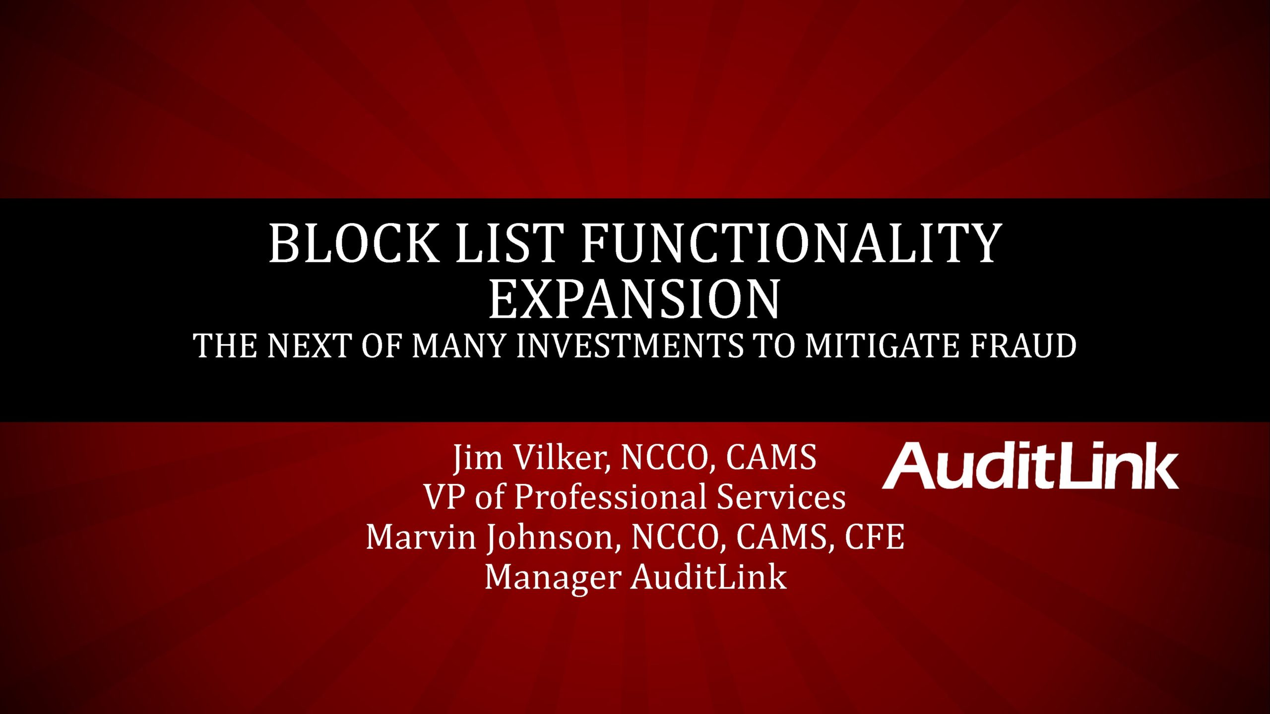 Block List Expansion And Future of Investment In New Functionality