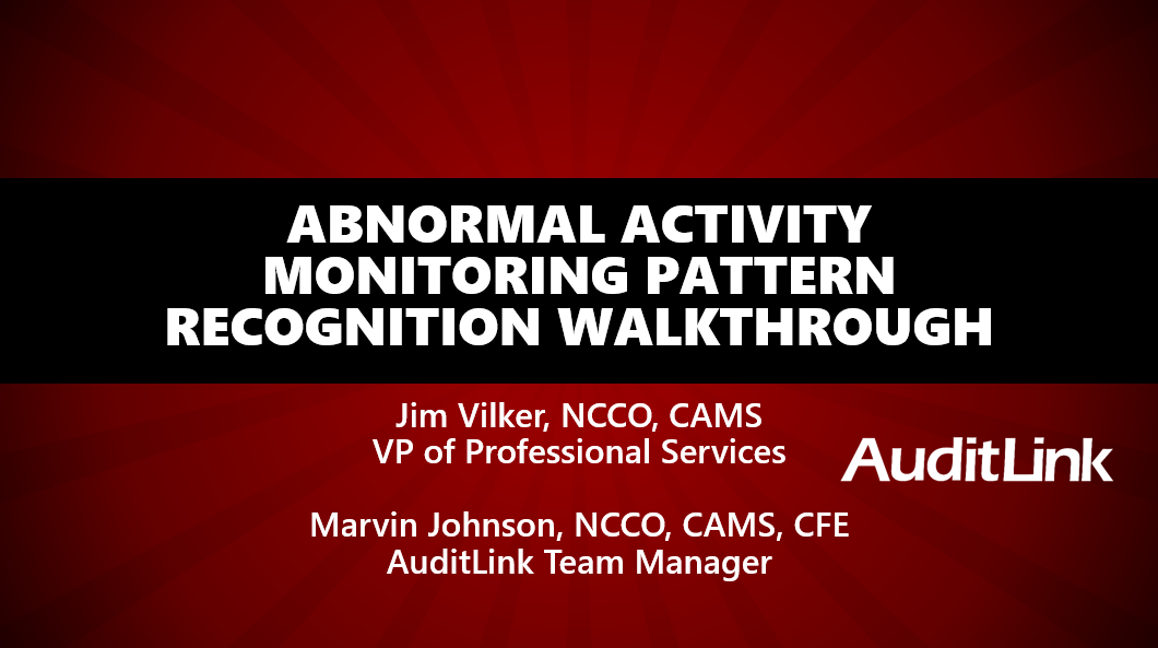 Abnormal Activity Monitoring Walkthrough